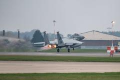El U.S.A.F. de RAF Lakenheath F-15 echa en chorro Fotografía de archivo libre de regalías