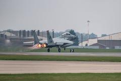 El U.S.A.F. de RAF Lakenheath F-15 echa en chorro Foto de archivo