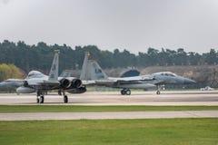 El U.S.A.F. de RAF Lakenheath F-15 echa en chorro Fotos de archivo libres de regalías