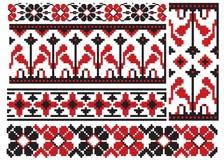El ucraniano borda la flor ilustración del vector