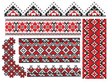 El ucraniano borda la servilleta ilustración del vector