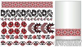 El ucraniano borda las flores ilustración del vector