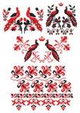 El ucraniano borda pájaros ilustración del vector