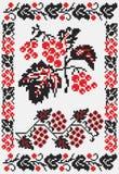 El ucraniano borda snowballtree ilustración del vector