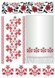 El ucraniano borda towel_poltava del modelo Foto de archivo