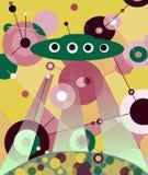 El UFO del aterrizaje ilustración del vector