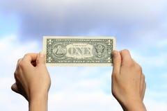 El un dólar americano imagenes de archivo