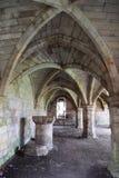 El undercroft de la abadía con la costilla saltó techo Fotografía de archivo libre de regalías