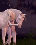 El unicornio y la Virgen Imagenes de archivo