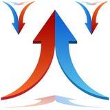El unirse a partido de las flechas Imagenes de archivo