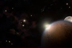 El universo ilustración del vector