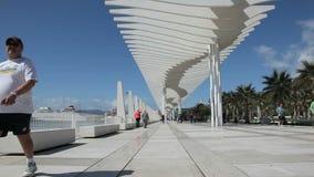 El Uno de Muelle promenade en Málaga, España Imagen de archivo