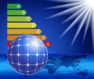 El uso de la energía solar. Imagenes de archivo