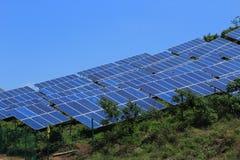 El uso de la energía solar fotos de archivo libres de regalías