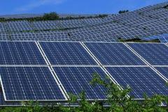 El uso de la energía solar imagen de archivo