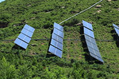 El uso de la energía solar imagen de archivo libre de regalías
