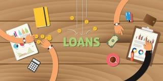 El uso de las finanzas del préstamo analiza negocio de los datos Fotos de archivo libres de regalías