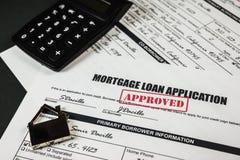 El uso de préstamo de hipoteca aprobó 013 Fotos de archivo libres de regalías