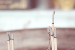 El uso del incienso a la capilla Declaración de la fe el respe del abastecimiento Fotos de archivo libres de regalías