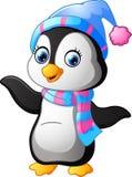 El uso del pingüino un mantón y un sombrero capsula libre illustration