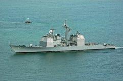 El USS Lake Champlain Imágenes de archivo libres de regalías