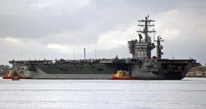 El USS Nimitz Foto de archivo