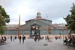 El uthärdad kulturell mitt och Plaça Comercial, Barcelona, Catalonia, Spanien royaltyfri foto