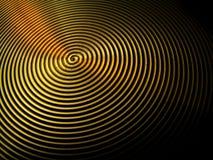 El vértigo remolina los anillos de las ondulaciones de los círculos de los surcos Fotos de archivo libres de regalías