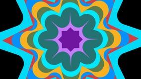 El vídeo con la estrella colorida animada forma en capas múltiples ilustración del vector