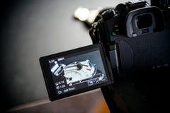 El vídeo del tiroteo del suizo de lujo del zenit de la moda hizo advertisi fotografía de archivo libre de regalías