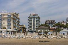 El vacaciones en Lido di Jesolo (en la playa) Imagen de archivo