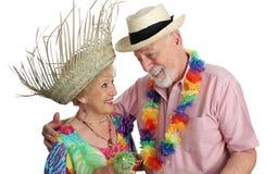 El Vacationing mayor de los pares Fotografía de archivo libre de regalías