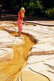 El vadear en un modelo de escala del río Misisipi Imágenes de archivo libres de regalías