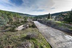 El Vado水库的溢洪道 库存图片