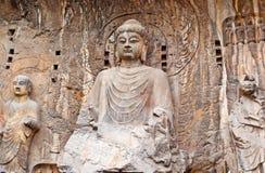 El Vairocana grande de las grutas de Longmen Buddha Fotografía de archivo