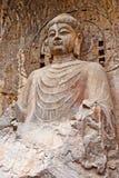 El Vairocana grande de las grutas de Longmen Buddha Foto de archivo libre de regalías