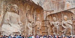 El Vairocana y el Boddhisatvas grandes Fotos de archivo