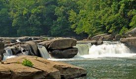 El valle cae las cascadas; Fairmont, WV Foto de archivo libre de regalías