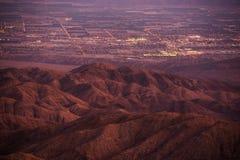 El valle Coachella en la oscuridad Imágenes de archivo libres de regalías