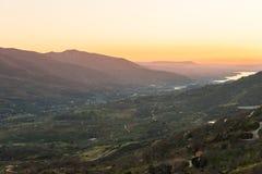 El valle de Jerte, ¡de CÃ ceres, España imagen de archivo libre de regalías