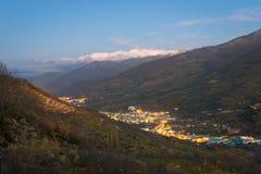 El valle de Jerte, ¡de CÃ ceres, España fotos de archivo