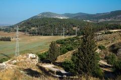 El valle de Jezreel y las montañas de Gilboa, Israel fotografía de archivo libre de regalías