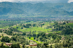 El valle de Katmandú Imagenes de archivo