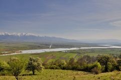 El valle de la hermosa vista del río de Olt Fotos de archivo libres de regalías