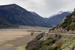 El valle de la montaña fotos de archivo