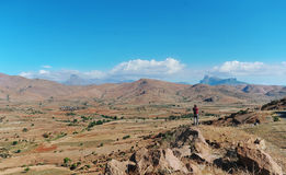 El valle de la montaña en la isla de Madagascar foto de archivo libre de regalías