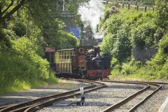 El valle de los diablos ferroviarios de Aberystwyth del rheidol puentea la estación País de Gales Fotografía de archivo libre de regalías