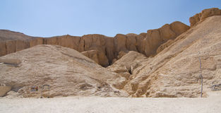 El valle de los reyes en Egipto Foto de archivo libre de regalías