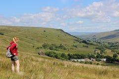 El valle de Mallerstang de cuestas del jabalí cayó Foto de archivo libre de regalías