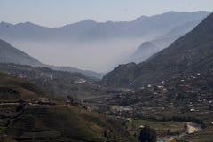 El Valle de Sapa royaltyfria foton